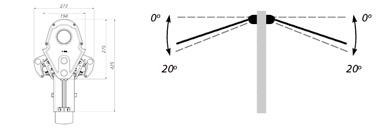 Grados de inclinación del Toldo Doble Duox