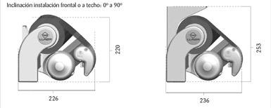 Dimensiones del Toldo Monobloc Art 350